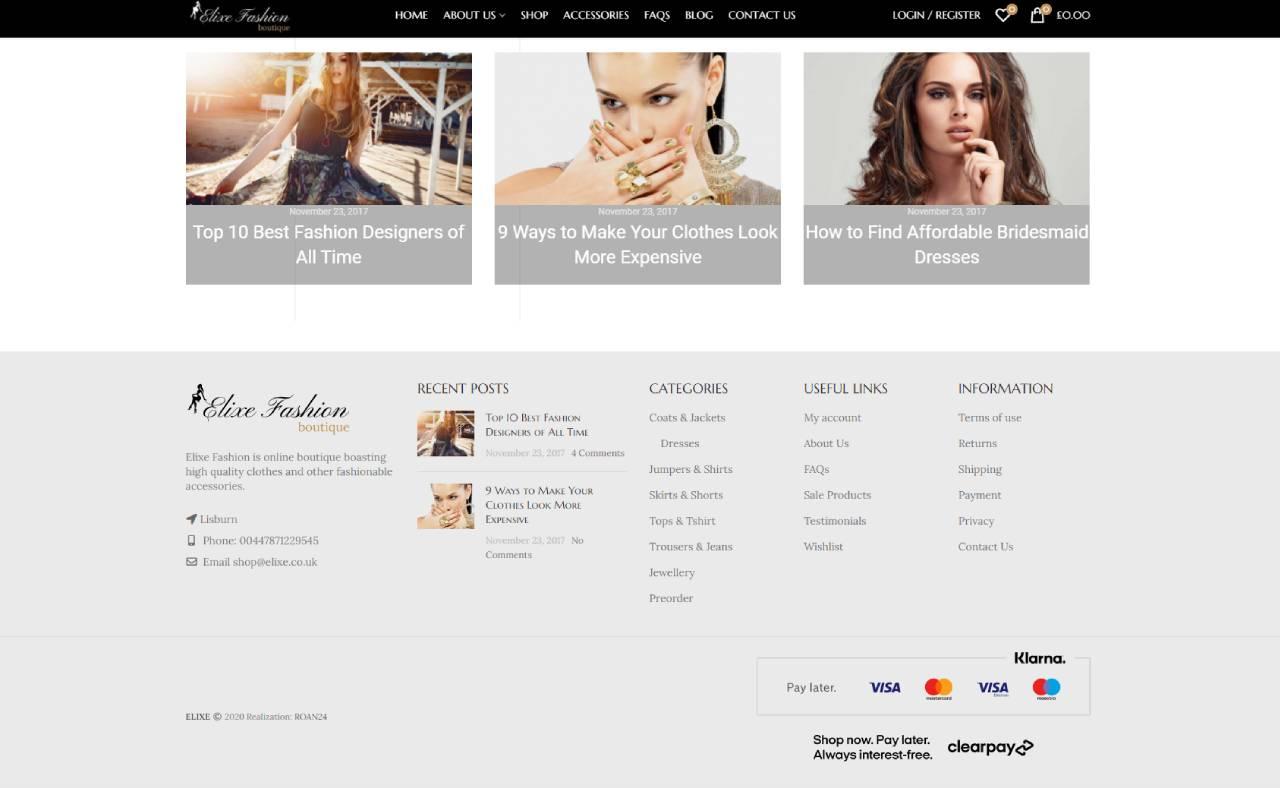 ROAN24 Elixe Fashion HOME Piè di pagina