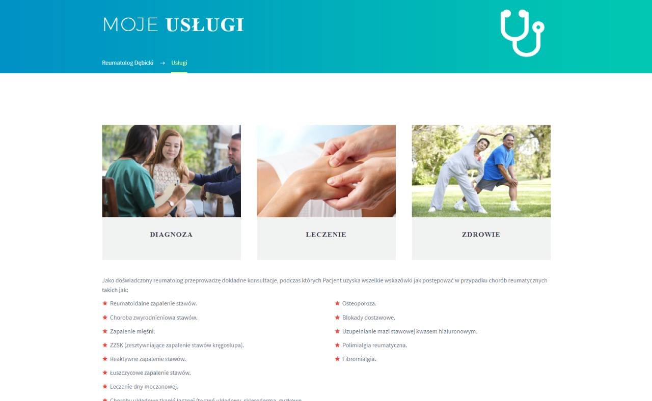 Roan24 Reumatologo Debicki.pl I miei servizi
